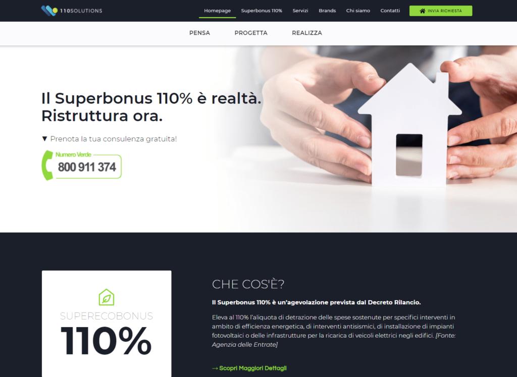 110 Solutions Sito Web Vetrina Aziendale
