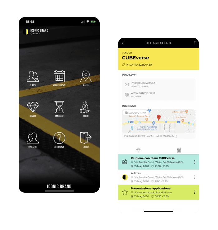 Iconic Brand Milano Applicazione web