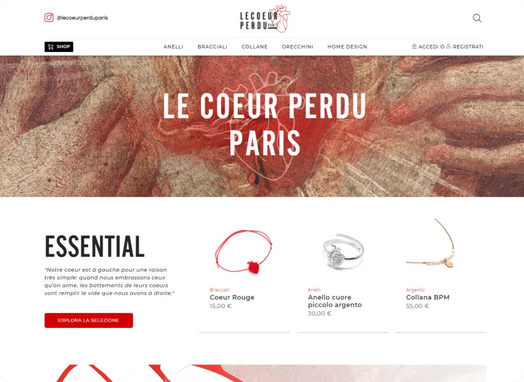 Le Coeur Perdu Paris Sito web E-commerce